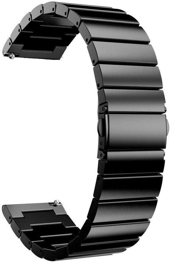 Accesorios de Reloj Correa de Reloj de Acero Inoxidable de 18/20/22 Mm para 42 mm 46 mm Correa de Pulsera de Reloj Inteligente para Samsung Gear S2 Classic S3 para Hombres y Mujeres
