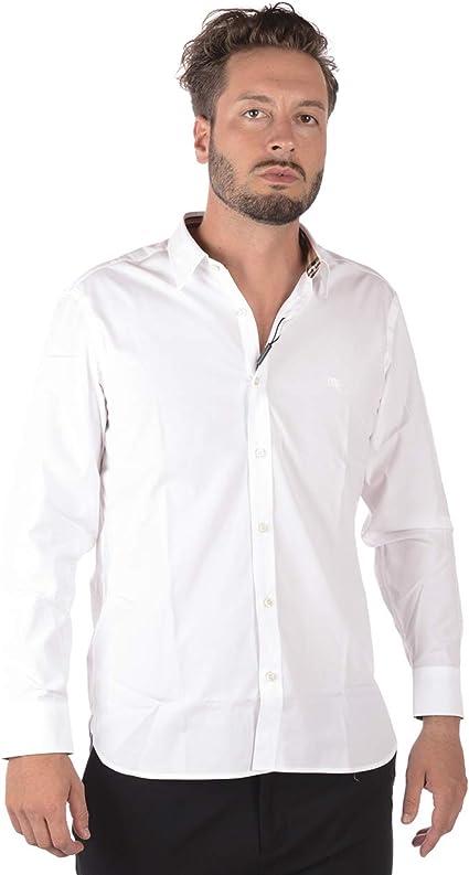 BURBERRY - Camisa Hombre 8003071 White William XL: Amazon.es: Ropa y accesorios