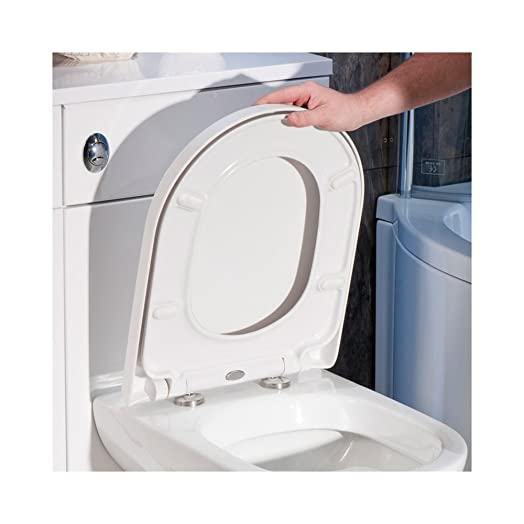 toilet seat manufacturers uk. Premium D SHAPE Soft Close WHITE Toilet Seat Bathroom  Top Fixing Hinges WC