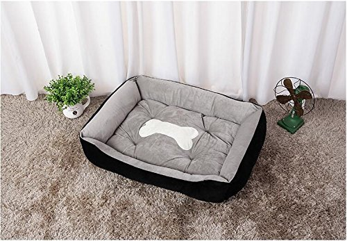 "Deep Black XL (36""L x 28""W x 6""H) Deep Black XL (36""L x 28""W x 6""H) LANXI PET Portable Bed Cuddler for Dogs & Cats, Home Soft Warm Sofa for Puppies & Kitties (XL (36 L x 28 W x 6 H), Deep Black)"
