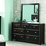 Homelegance Summerlin 7 Drawer Dresser & Mirror in Espresso - (Dresser Only)