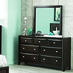 Homelegance Summerlin 7 Drawer Dresser & Mirror in Espresso - (Dresser Only)