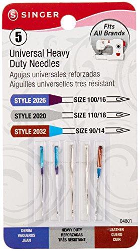Universal Heavy Duty Machine Needles -5/Pkg