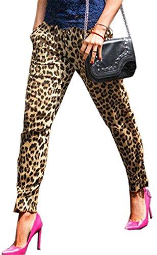 Leopard Print Jeans - 3