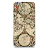 """HelloGiftify iPhone 7/iPhone 8 Case, Vintage Old World Map Pattern Soft Rubber TPU Back Cover for Apple iPhone 7/iPhone 8 4.7"""" (Style 2)"""