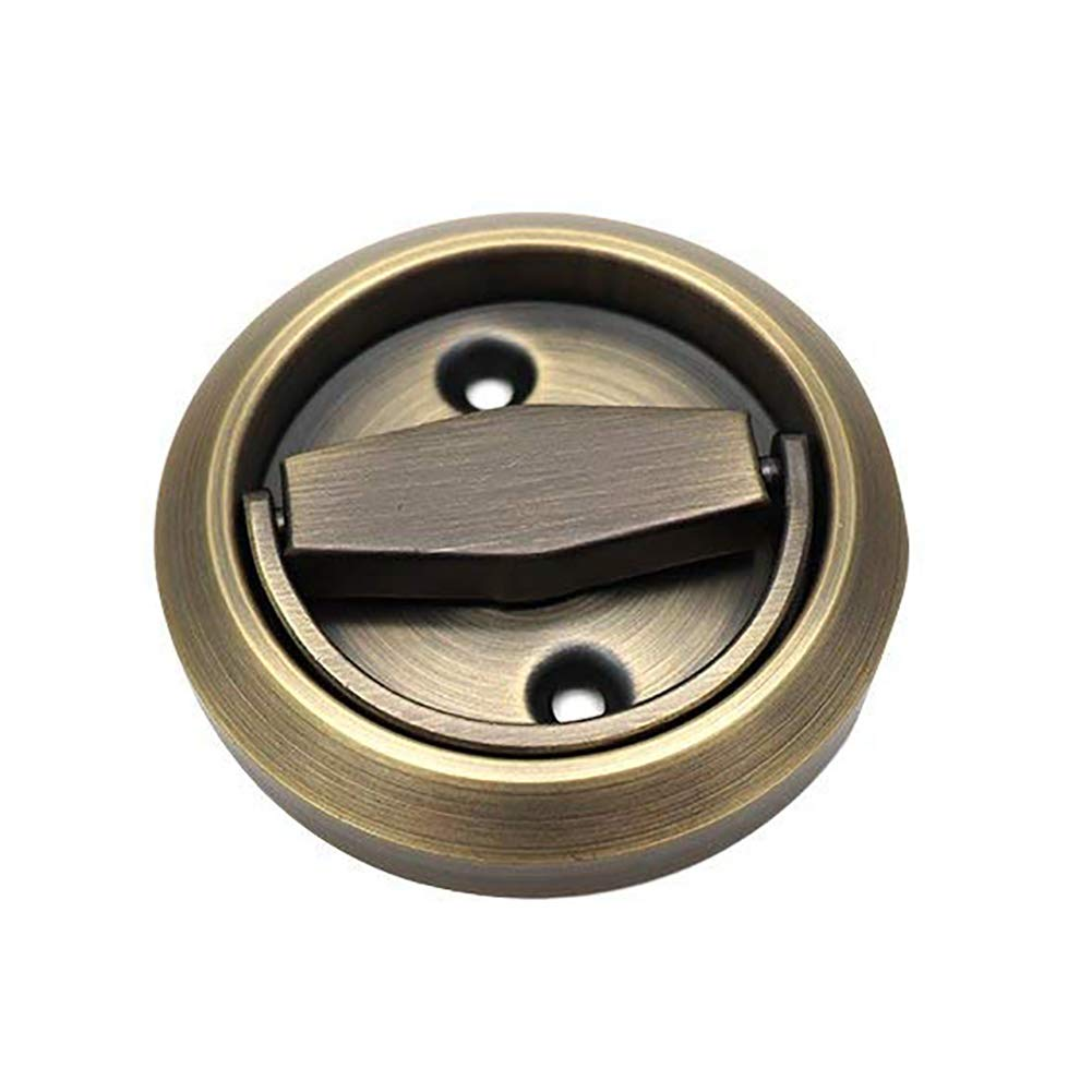 BTMB Invisible Concealed Cabinet Drawer Door Handle Pull Stainless Steel Sliding Doorknob (Bronze)