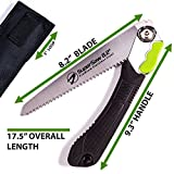 Supersaw 8.2- Folding Pruning Saw for Wood Tree Plastic Camping Hunting.Hand Saw with 8.2 Inches Rugged Blade + Waterproof Carrying Bag + User Guide