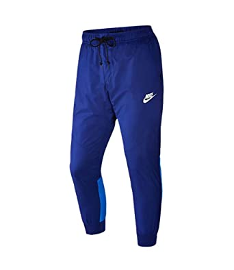 cb25e6763 Amazon.com: NIKE Men's NSW Windrunner Sports Casual Pants-Deep Royal Blue-XL:  Clothing