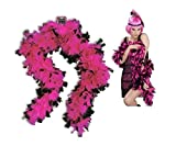 Pink Black Feather Boa Feathered Roaring Flapper 20'S Costume Accessory