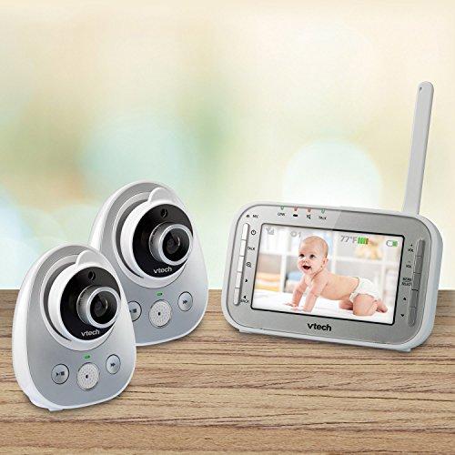 vtech vm342 2 safe sound expandable digital video baby monitor with 2 cameras standard lens. Black Bedroom Furniture Sets. Home Design Ideas