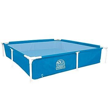 Jilong Kids Frame Pool 152x152x33 Cm Kinderpool Planschbecken Stahlrohr  Schwimmbecken Kinder Und Familien Schwimmbad Stabiler Stahlrahmen
