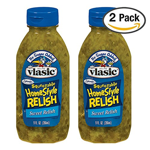 Sugar Free Sweet Relish, Vlasic No Sugar Added Homestyle Sweet Relish, 2 Pack ()