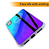 Wireless Charger iPhone X case, Ultra Thin 2018 New Style Blue Light Mirror Case, Luxury Slim Fit Gradual Colorful Gradient Change Color Lightweight Anti-Drop Hard Back Cover Case For iPhone 10 X