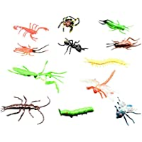 Crazy-Store 12pcs/Set Beetle Spider Simulation Animals Model Kids Insects Prank Toys