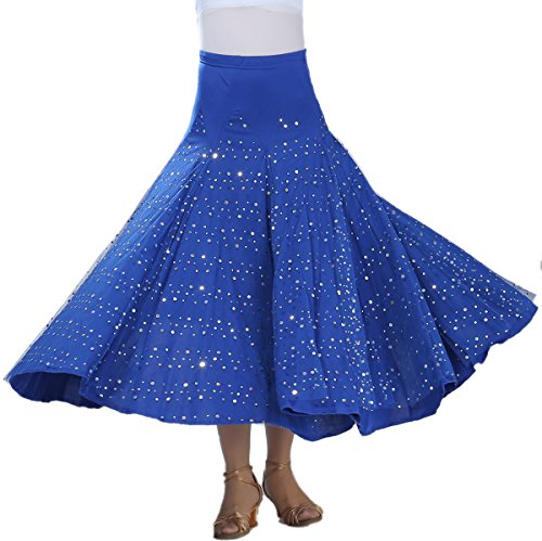 Whitewed Tribal Flamenco Gypsy Paso Doble Ballroom Standard Dance Practice Skirt Outfits
