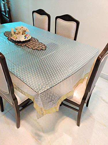 CASA-NEST Thick PVC 4 to 6 Seater 3D Dining Table Cover, Size-54×78 Waterproof Table Cover