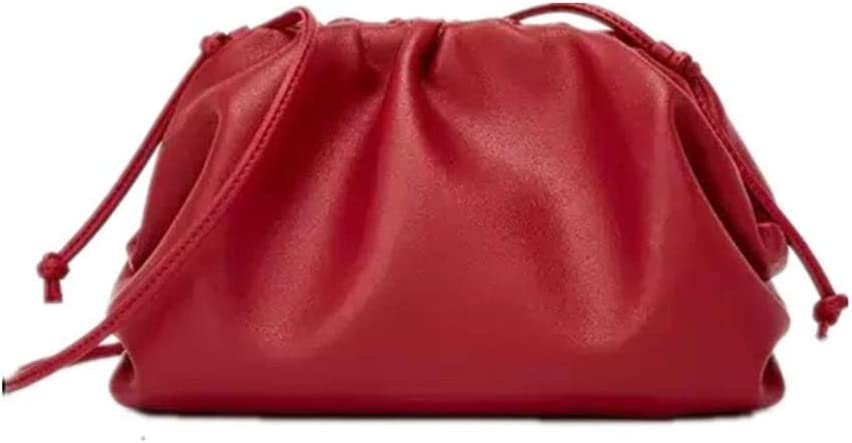 BWM Leather Envelope Bag Handbags Women Bags Rounded Shape Purses And Handbags Clutches,Orange Small Purple Small