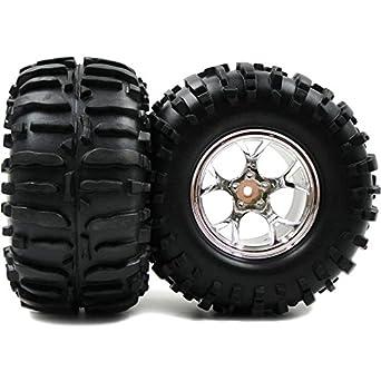 Amazon com: 2pc RC Truck Crawler Tires 2 2inch Wheels Hex