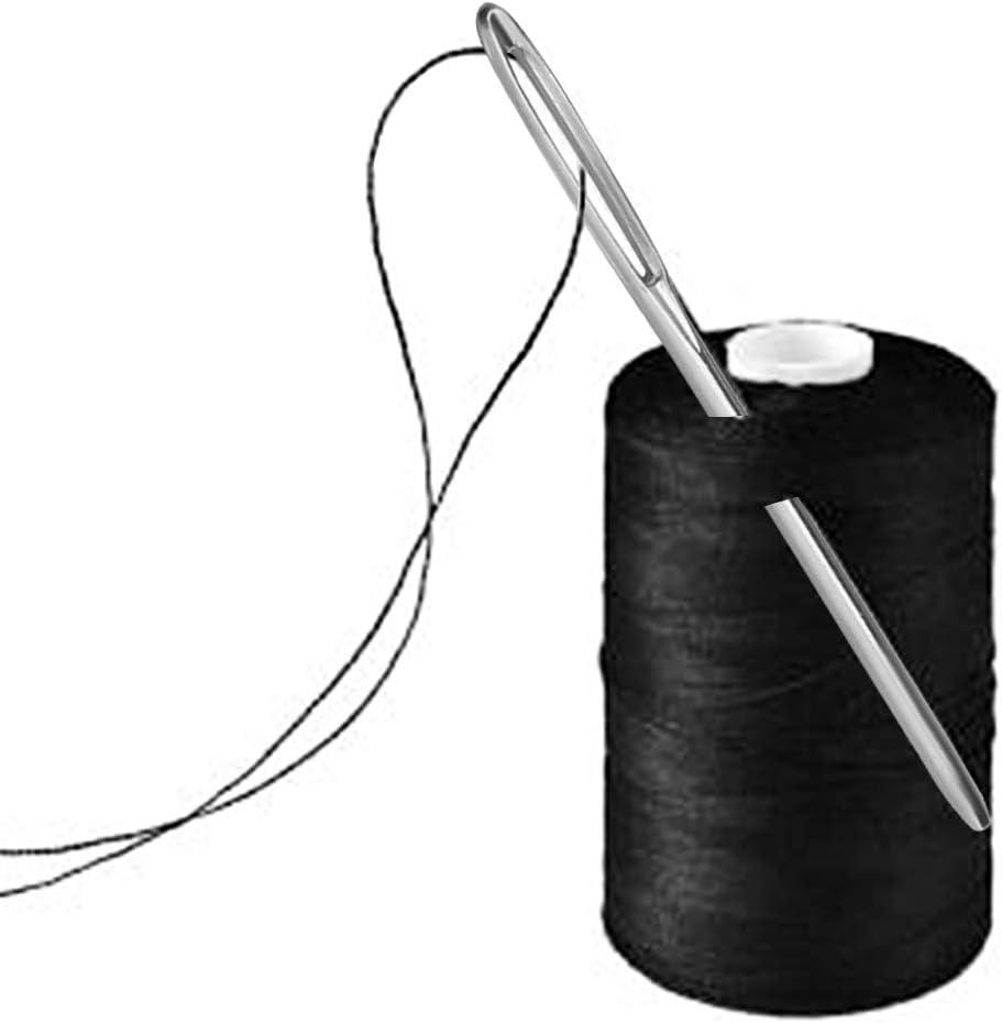 Wedong Large Big Eye Craft Needles 21pcs Big Eye Hand Sewing Needles Craft Sewing Needles with Aluminum Needle Case
