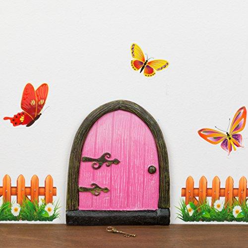 Fairy Door - Kids Enchanted Bedroom Fairy Door - Welcome A Fairy Into Your Family. (Girl)