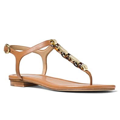 a666a46eb7ad Michael Kors Michael Mahari Leather Thong Womens Shoes in Acorn  Amazon.co. uk  Shoes   Bags