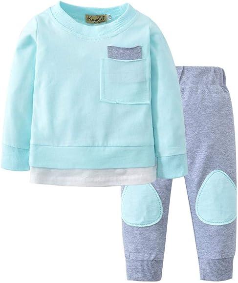 841b08221c40 K-youth Ropa Bebe Niño Otoño Invierno 2018 Ofertas Infantil Pijama Recien  Nacido Bebé Niña Sudaderas Manga Larga Camisetas Blusas + Pantalones Largos  ...
