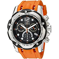 Invicta Men's 20072SYB Speedway Analog Display Swiss Quartz Orange Watch