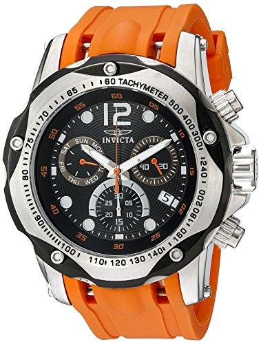 Invicta Speedway Swiss Chrono Watch - Invicta Men's 20072SYB Speedway Analog Display Swiss Quartz Orange Watch