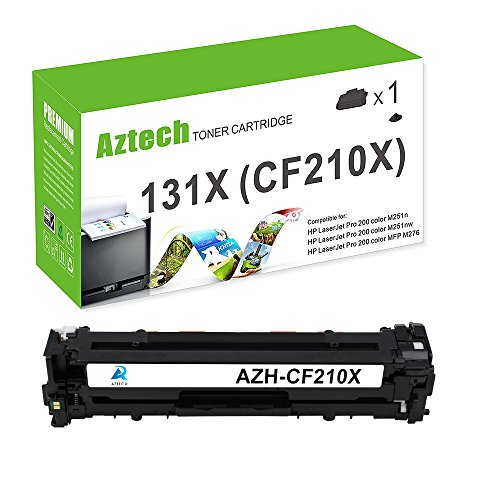 Wholesale Aztech Cf210A Compatible Replacement for HP 131A Toner HP 131X Toner Cartridge CF210X HP LaserJet 131A Toner laser jet 131A Cf210A HP Laserjet Pro 200 Color HP M276NW M251NW Toner ink Printer Black supplier