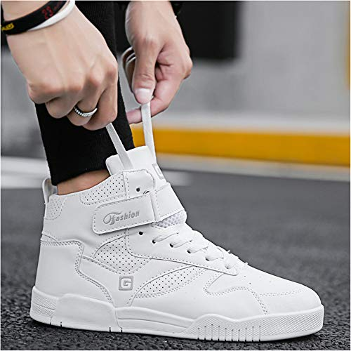 Up Top Running Shoes White Men's High Show Lace Fashion Sneaker Athietic Leader F78wCzqI7x