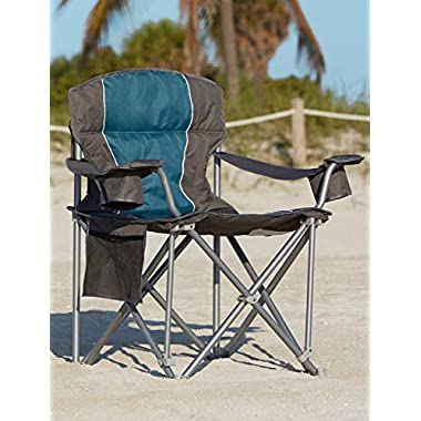 500-lb. Capacity Heavy-Duty Portable Chair (Blue)
