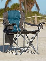 500-lb. Capacity Heavy-Duty Portable Chair (Blue)