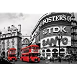 Piccadilly Circus (London Red Buses) - Maxi Poster - 61 cm x 91.5 cm
