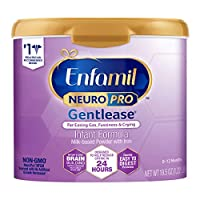 Enfamil NeuroPro Gentlease Baby Formula, Brain and Immune Support with DHA, Clinically Proven to Reduce Fusiness, Gas, Crying in 24 Hours, Non-GMO, Reusable Tub, 19.5 Oz