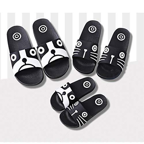 Noir Chaussures Femme Fille enfant Plage Tongs Piscine De chien Parent Enfant Kvbaby Pantoufles Bain Sandales Hommes Sabots Garçon Mixte Mules D'été wvxqXfnHF1