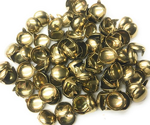 100 Nail Heads Round,Spots, Studs,Gold Size 1/2