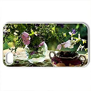 Beautiful day - Case Cover for iPhone 4 and 4s (Flowers Series, Watercolor style, White)