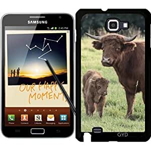 Funda para Samsung Galaxy Note GT-N7000 (I9220) - Vaca Con Pequeño Becerro by UtArt