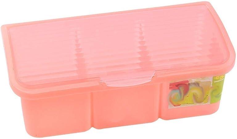 DJSMtlg Caja de condimentos Multifuncional Cocina con Tres o Cuatro Rejillas Caja de condimentos de plástico con una Cuchara pequeña Caja de condimentos separada (Size : 1): Amazon.es: Hogar