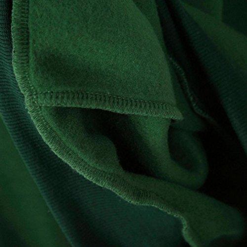 O lunga Cotone Verde Angelof Applique Donna Collo Donna Felpa Blazer Blazer cappuccio Manica con con Felpa Top cappuccio Maglione Ricamo wxw4UPRqX