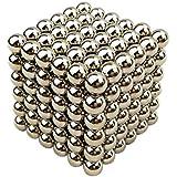 Cubo Classic, 3 cm magico composto da sfere in ferro, puzzle, soprammobile, giocattolo, antistress, intelligenza sviluppare - argento - Magenesis®