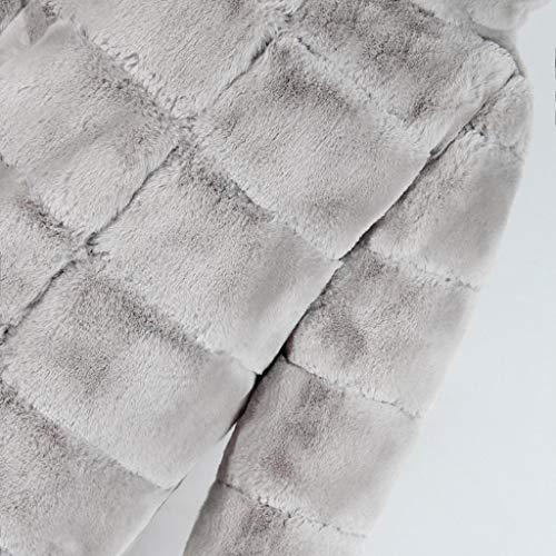Giacca Cappotto Vicgrey Gigio A Sintetica In Caldo Lunghe Invernale Casuale Cardigan Inverno Pelliccia Maniche Moda Elegante Maglione Donna Felpa Scialle wZTPkXOiu