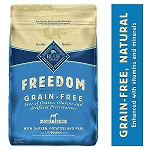 Blue Buffalo Freedom Grain Free Natural Adult Dry Dog Food, Chicken 24-lb 24