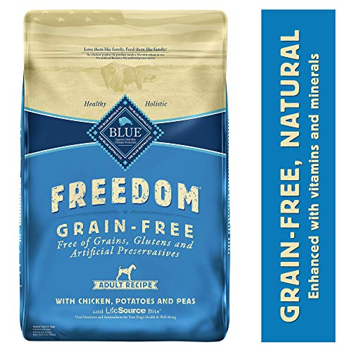 Blue Buffalo Freedom Grain Free Natural Adult Dry Dog Food, Chicken 24-lb (Brown Rice In Dog Food Good Or Bad)
