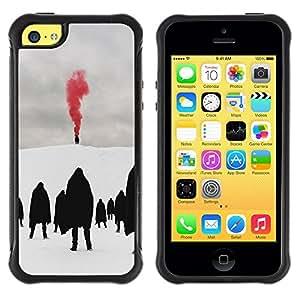 LASTONE PHONE CASE / Suave Silicona Caso Carcasa de Caucho Funda para Apple Iphone 5C / Red Blood Metal Goth Winter Dark