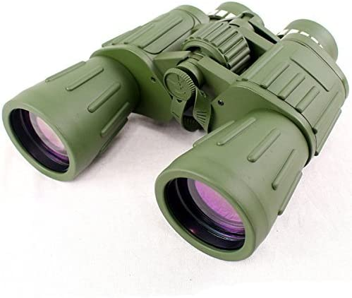 60X50 Perrini Green Army Binoculars with Bag