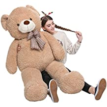 MorisMos Big Teddy Bear Stuffed Animals Plush Toy for Girlfriend Children Tan 39 inches