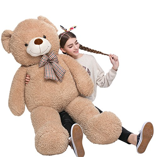 MorisMos Big Teddy Bear Stuffed Animals Plush Toy for Girlfriend Children Tan 39 (Big Stuffed Brown Bear)