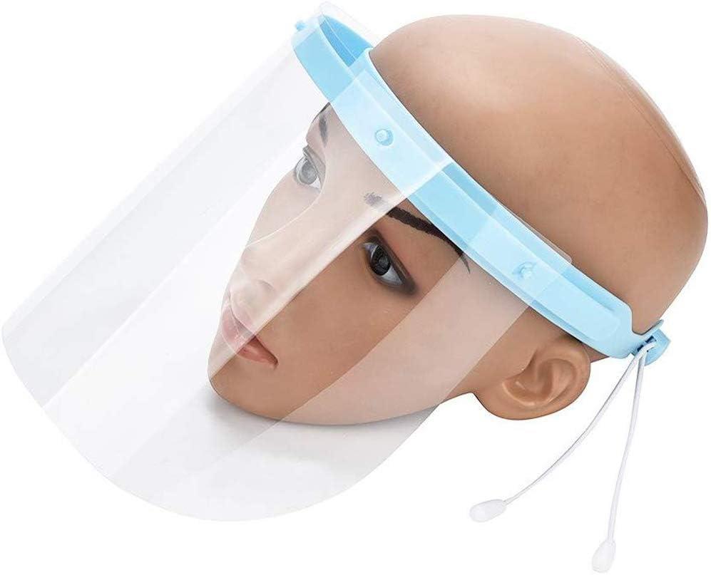 Máscara Anti y Saliva película Protectora Máscara Médica, 10 Piezas Careta Protectora de la película de Recambio para el Marco Ajustable Visera