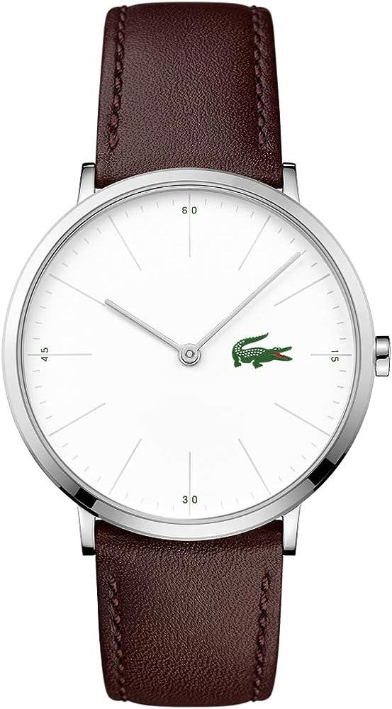 Lacoste Reloj Analógico para Hombre de Cuarzo con Correa en Cuero 2010872: Lacoste: Amazon.es: Relojes